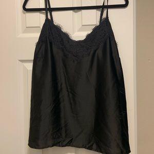Black Lace Trim Cami, Size 14
